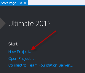Creating new project in Visual Studio