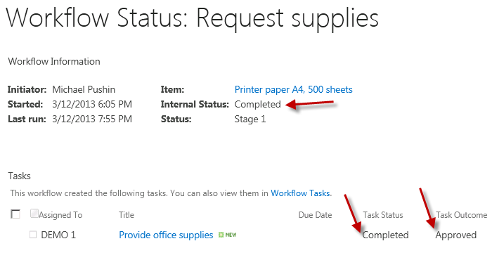 Check whether workflow has been completed from the custom ASP.NET task form